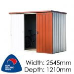 Duratuf Kiwi KL2 2545x1210 Garden Shed available at Gubba Garden Shed