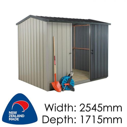 Duratuf Kiwi MK2 2545x1715 Garden Shed available at Gubba Garden Shed