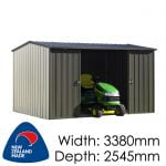 Duratuf Kiwi MK3A 3380x2524 Garden Shed available at Gubba Garden Shed
