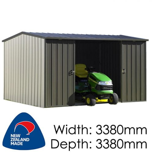 Duratuf Kiwi MK3B 3380x3380 Garden Shed available at Gubba Garden Shed