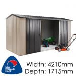 Duratuf Kiwi MK4 4210x1715 Garden Shed available at Gubba Garden Shed