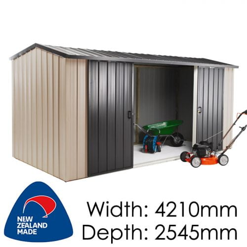 Duratuf Kiwi MK4A 4210x2545 Garden Shed available at Gubba Garden Shed