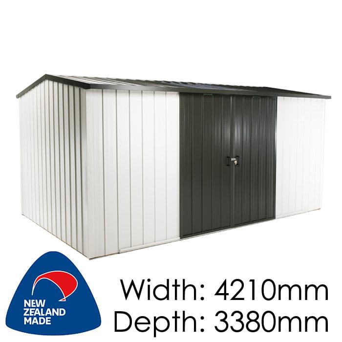 Duratuf Kiwi MK4B 4210x3380 Garden Shed available at Gubba Garden Shed