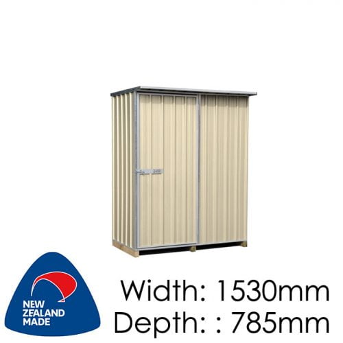 "Galvo GVO1508 1530x785 ""Desert Sand"" Coloured Steel Garden Shed available at Gubba Garden Shed"