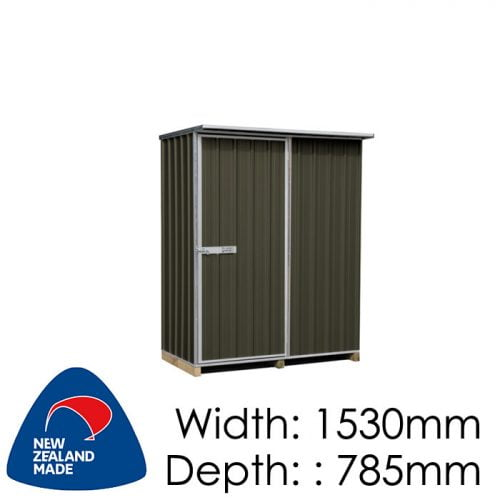 "Galvo GVO1508 1530x785 ""Karaka"" Coloured Steel Garden Shed available at Gubba Garden Shed"