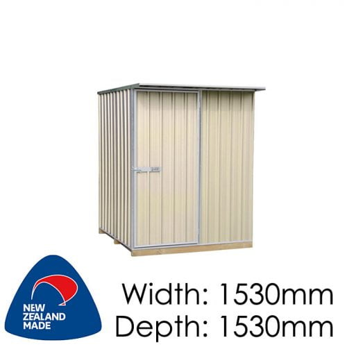 "Galvo GVO1515 1530x1530 ""Desert Sand"" Coloured Steel Garden Shed available at Gubba Garden Shed"