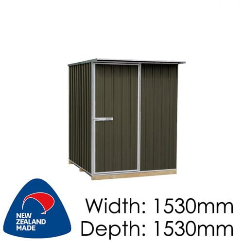 "Galvo GVO1515 1530x1530 ""Karaka"" Coloured Steel Garden Shed available at Gubba Garden Shed"