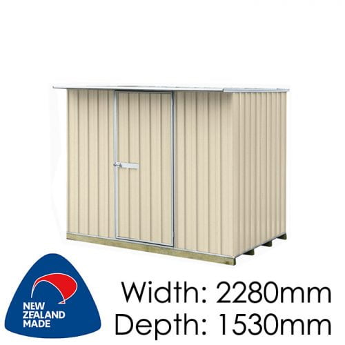 "Galvo GVO2315 2280x1530 ""Desert Sand"" Coloured Steel Garden Shed available at Gubba Garden Shed"
