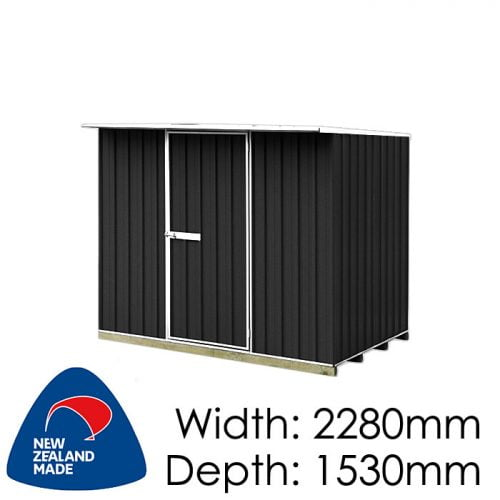 "Galvo GVO2315 2280x1530 ""Ebony"" Coloured Steel Garden Shed available at Gubba Garden Shed"