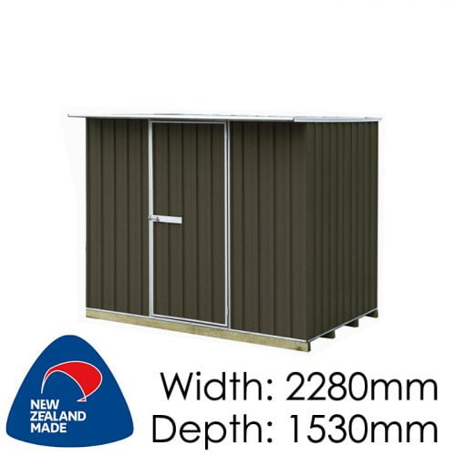 "Galvo GVO2315 2280x1530 ""Karaka"" Coloured Steel Garden Shed available at Gubba Garden Shed"