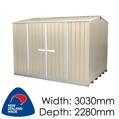 "Galvo GVO3023 3030x2280 ""Desert Sand"" Coloured Steel Garden Shed available at Gubba Garden Shed"
