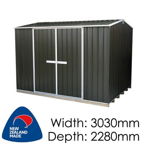 "Galvo GVO3023 3030x2280 ""Karaka"" Coloured Steel Garden Shed available at Gubba Garden Shed"
