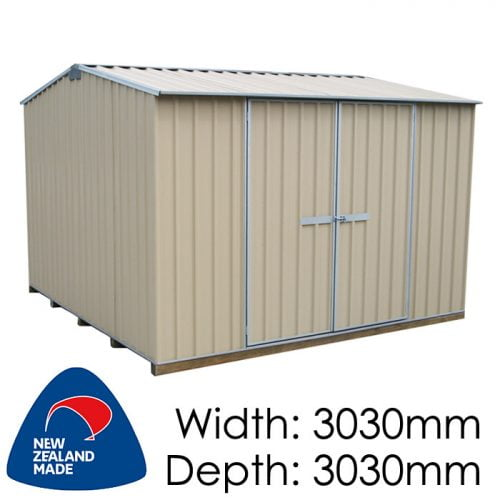 "Galvo GVO3030 3030x3030 ""Desert Sand"" Coloured Steel Garden Shed available at Gubba Garden Shed"