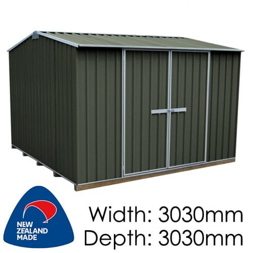"Galvo GVO3030 3030x3030 ""Karaka"" Coloured Steel Garden Shed available at Gubba Garden Shed"