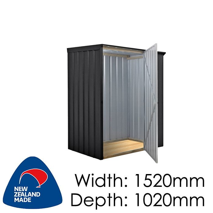 SmartStore Skillion SM1510 1520x1020 Ebony Shed available at Gubba Garden Shed