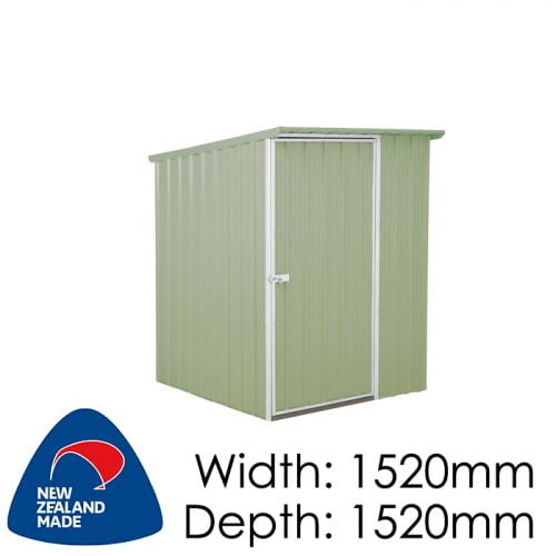 SmartStore Lean-to SM1515 1520x1520 Mist Green Shed available at Gubba Garden Shed