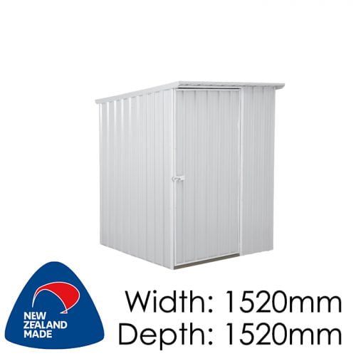 SmartStore Lean-to SM1515 1520x1520 Zincalume Shed available at Gubba Garden Shed