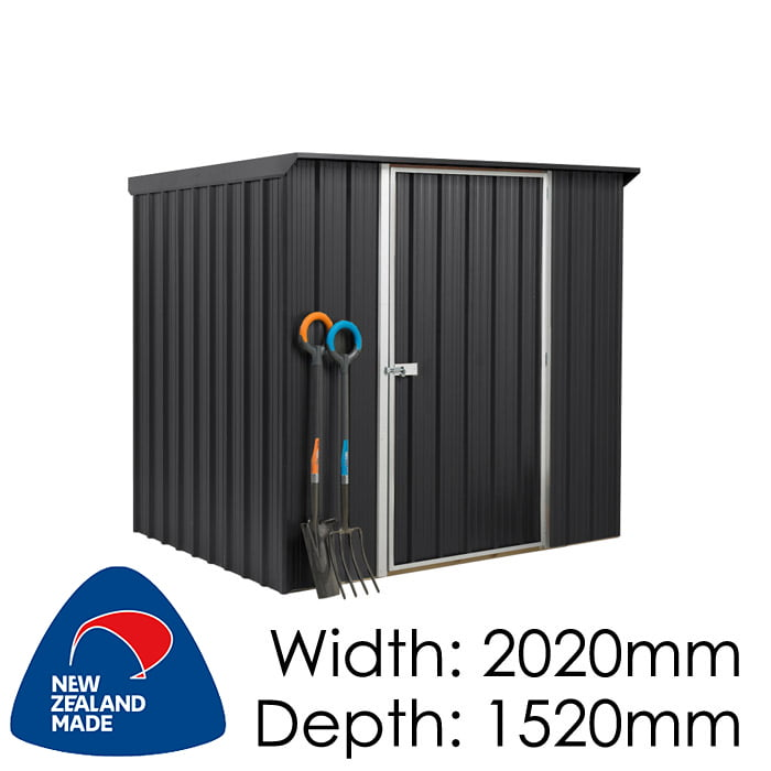 SmartStore Lean-to SM2015 2020x1520 Ebony Shed available at Gubba Garden Shed