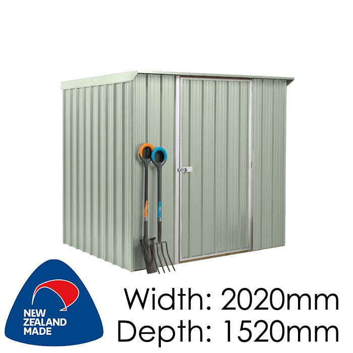 SmartStore Lean-to SM2015 2020x1520 Mist Green Shed available at Gubba Garden Shed