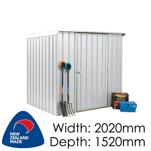 SmartStore Lean-to SM2015 2020x1520 Zincalume Shed available at Gubba Garden Shed