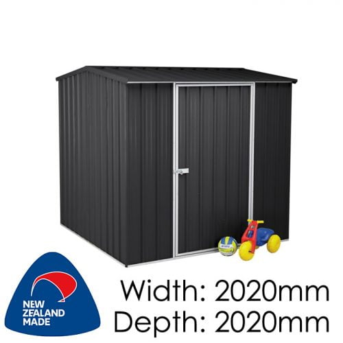 SmartStore Gable SM2020 2020x2020 Ebony Shed available at Gubba Garden Shed