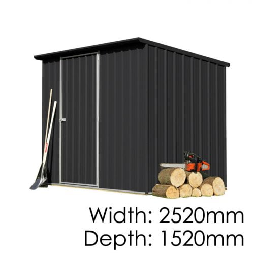 Garden Sheds NZ Smart-Store-SM2515-Ebony-500x500