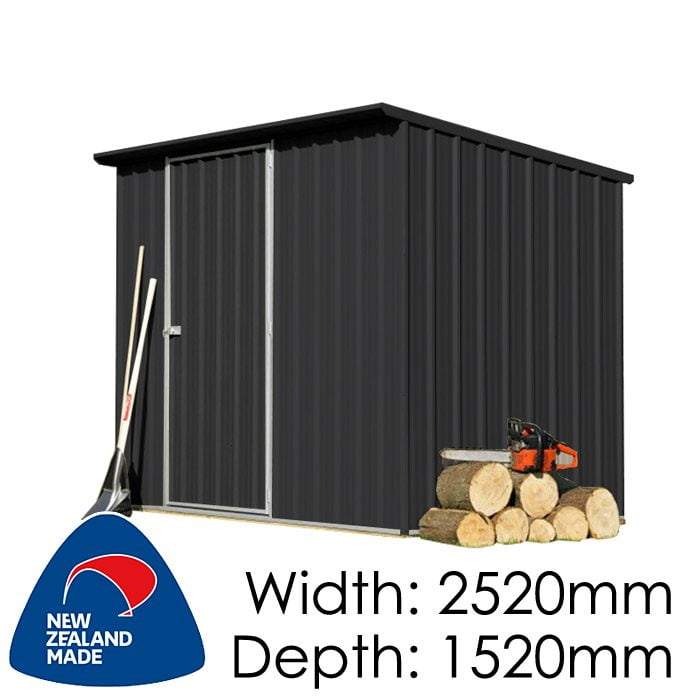 SmartStore Lean-to SM2515 2520x1520 Ebony Shed available at Gubba Garden Shed