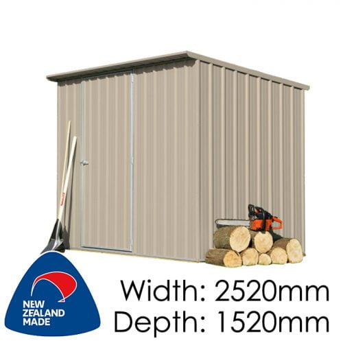 SmartStore Lean-to SM2515 2520x1520 Lichen Shed available at Gubba Garden Shed