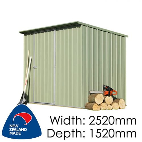 SmartStore Lean-to SM2515 2520x1520 Mist Green Shed available at Gubba Garden Shed