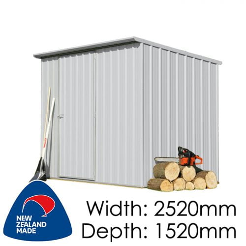 SmartStore Lean-to SM2515 2520x1520 Zincalume Shed available at Gubba Garden Shed