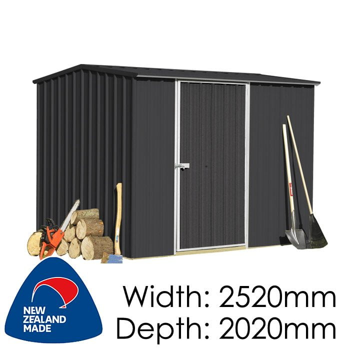Garden Sheds NZ Smart-Store-SM2520-Ebony-1-700x700