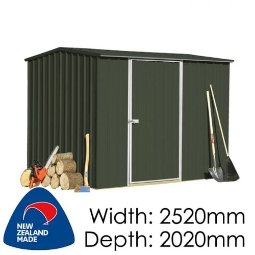 SmartStore Gable SM2520 2520x2020 Ebony Shed available at Gubba Garden Shed