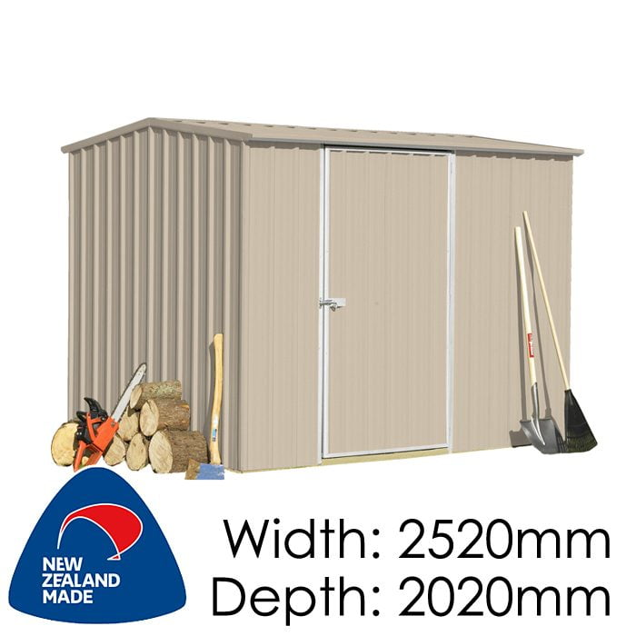 SmartStore Gable SM2520 2520x2020 Lichen Shed available at Gubba Garden Shed