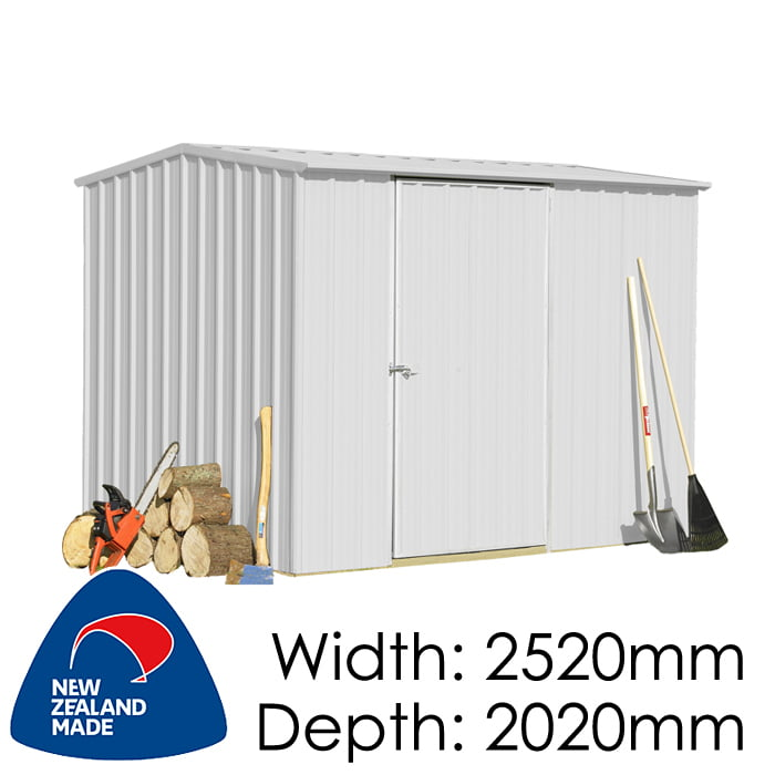 SmartStore Gable SM2520 2520x2020 Zincalume Shed available at Gubba Garden Shed