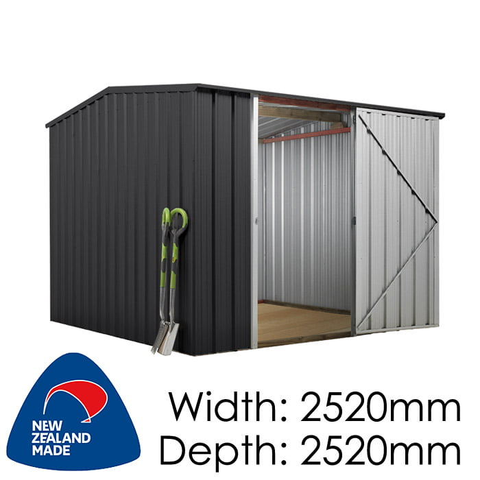 SmartStore Gable SM2525 2520x2520 Ebony Shed available at Gubba Garden Shed