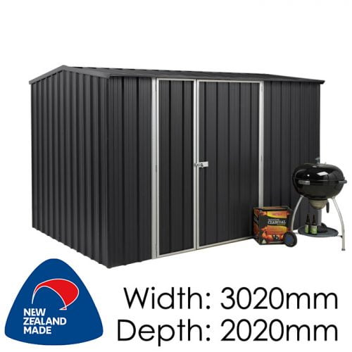 Garden Sheds NZ Smart-Store-SM3020-Ebony-1-500x500