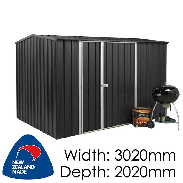 SmartStore Gable SM3020 3020x2020 Ebony Shed available at Gubba Garden Shed