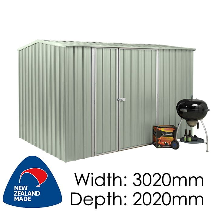 SmartStore Gable SM3020 3020x2020 Mist Green Shed available at Gubba Garden Shed