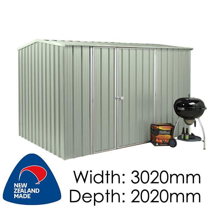 Garden Sheds NZ Smart-Store-SM3020-Mistgreen-1-700x700