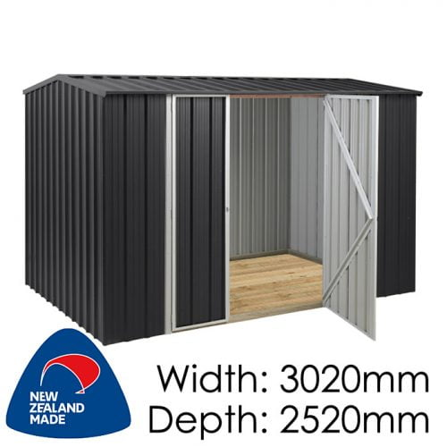 Garden Sheds NZ Smart-Store-SM3025-Ebony-1-500x500