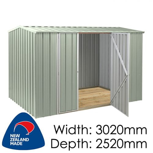 SmartStore Gable SM3025 3020x2520 Mist Green Shed available at Gubba Garden Shed