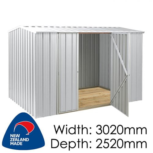 SmartStore Gable SM3025 3020x2520 Zincalume Shed available at Gubba Garden Shed