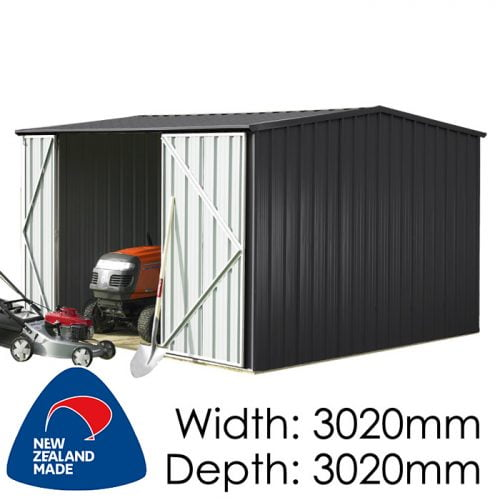 Garden Sheds NZ Smart-Store-SM3030-Ebony-1-500x500