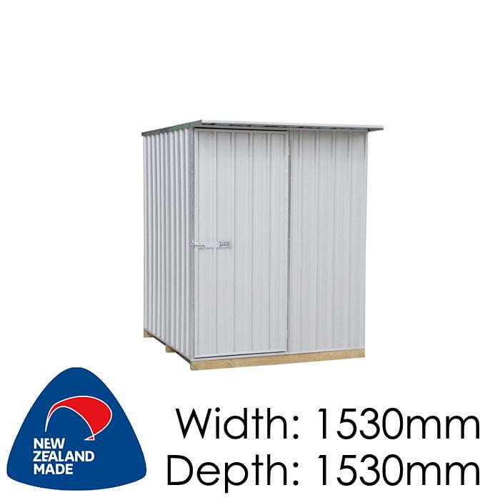 Galvo GVO1515 Zincalume Garden Shed - Floor Kitset Included (pickup deal)