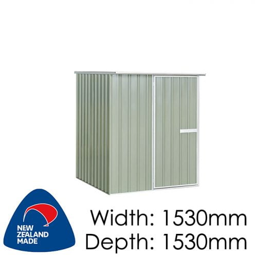 "Galvo GVO1515 1530x1530 ""Hazy Grey"" Garden Shed available at Gubba Garden Shed"
