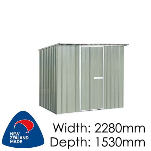 "Galvo GVO2315 2280x1530 ""Hazy Grey"" Garden Shed available at Gubba Garden Shed"