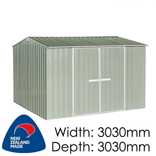 "Galvo GVO3030 3030x3030 ""Hazy Grey"" Garden Shed available at Gubba Garden Shed"