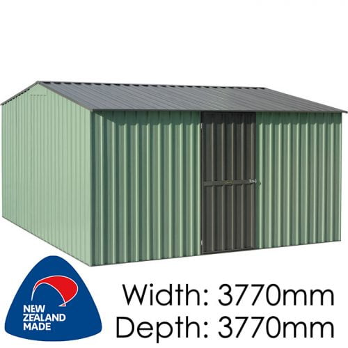 Garden Master GGM3838EE 3770x3770 – Special End Entry Garden Shed available at Gubba Garden Shed