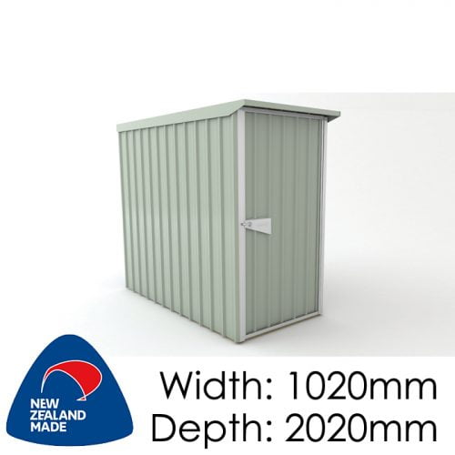SmartStore Lean-to SM1020 1020X2020 Mist Green Shed available at Gubba Garden Shed