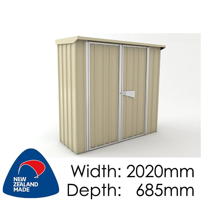 SmartStore Skillion SM2007 2020x685 Lichen Shed available at Gubba Garden Shed